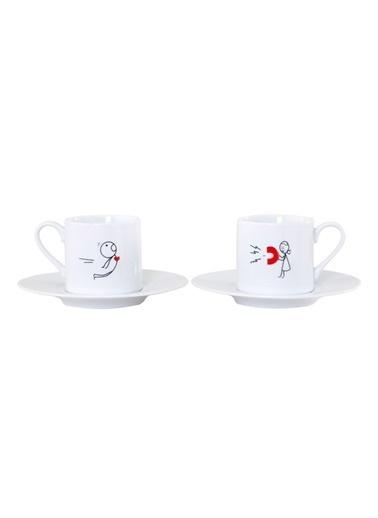 Kütahya Porselen Rüya 8078 Desen Kahve Fincan Takımı Renkli